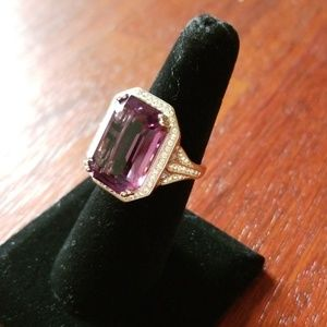 Jewelry - Sterling silver ring with purple stone